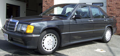 A rare 1987 Mercedes-Benz 190E-16 Valve at E.A.S for climate control blower motor replacement.