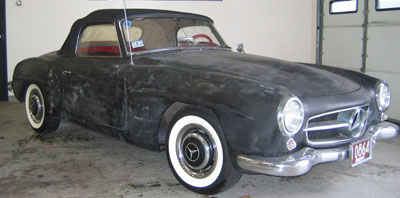This 1955 Mercedes-Benz 190SL undergoing a private restoration by it's owner, was in for full spring and shock replacement. 1955 was the first year of 190SL production.