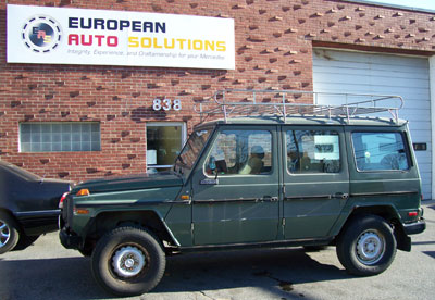 This 1986 Mercedes-Benz G230 was recently donated to the Larz Anderson Museum of Transportation and was recently in our shop for a check over.