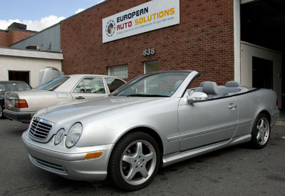 This 2003 Mercedes-Benz CLK430 Cab. recently visited our shop for ball joint replacement and new brake pads. It is for sale by The Millenium Auto Group (866-626-4900)