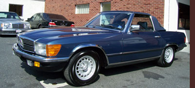 "This 1984 Mercedes-Benz W107 chassis ""Euro"" 280SL was at our shop for routine maintenance and an interior/exterior detail."