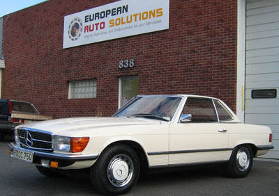 This 1972 Mercedes-Benz 350 SL European edition has a rare standard transmission. 1972 was the first year of for this SL body style. European Auto Solutions just finished a full mechanical restoration including timing chain replacement.