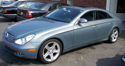 This 2006 Mercedes-Benz CLS500 in DB747 Granite Grey was recently in for it's Scheduled 'B' Service and front brake pad replacement.