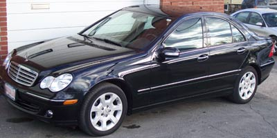 A 2007 Mercedes-Benz C280 in DB040 Black in for it's scheduled B-service and a bulb out indicator repair.