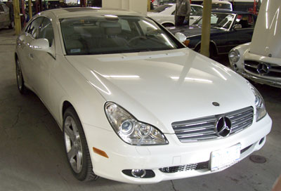 2006 CLS500 recently in for a Michelin tire upgrade.