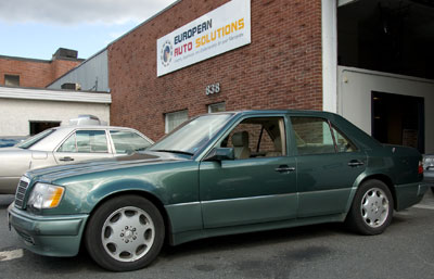 A rare 1992 Mercedes-Benz 500E, cobuilt by Porsche and Mercedes-Benz, was recently in for exhaust and engine mount replacement.