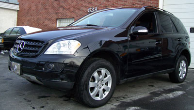 This 2006 Mercedes-Benz ML350 was brought in for front and rear brake pad replacement.