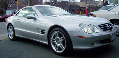2005 Mercedes-Benz SL500 in for a diagnosis and repair of the TPMS system.