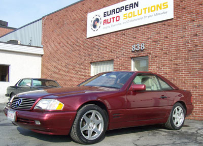 Mercedes-Benz SL500 40th Anniversary Edition. The total worldwide production was 500. The paint color of this particular Anniversary Edition is very rare DB019 Red Metallic.